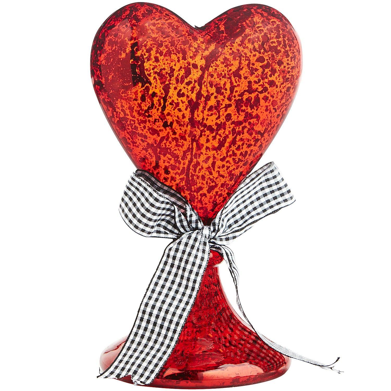 Glass Heart Decor - Valentine's Day Decor