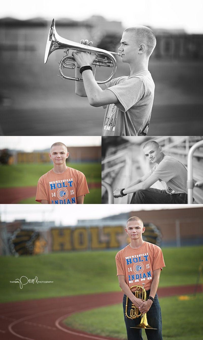 High School Senior Photography. Mellophone. Civil Air