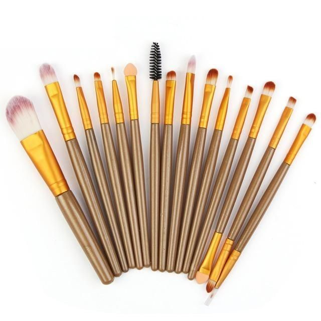 15-teilige Make-up-Pinsel – Gold A.