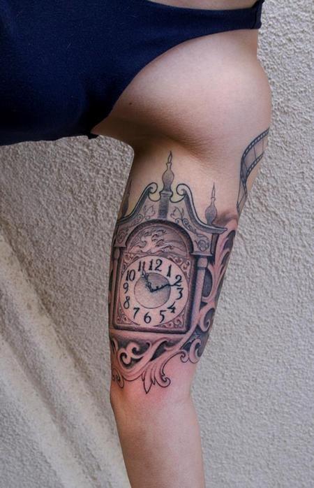 Grandfather Clock By Jeff Norton Tattoos Grandfather Clock Tattoo Grandfather Tattoo Grandfather Clock