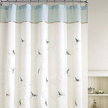 Dragonfly whimsey shower curtain jcpenney for the home - Jcpenney bathroom window curtains ...