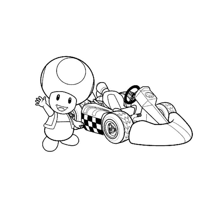 Mario Kart Dessin Coloriage Character Fictional