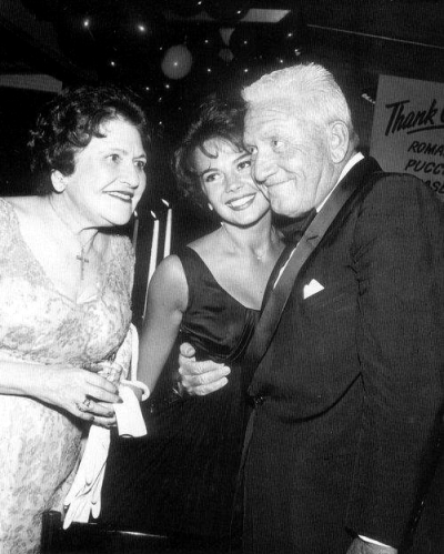 With Louella Parsons and Spencer Tracy ( 21st birthday party held at Romanoff's,Hollywood,California, July 20, 1959.)