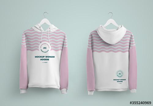 Download Hoodie Front And Back Mockup On Hanger Adobe Stock December Creativeteam Hoodies Athletic Jacket Adidas Jacket