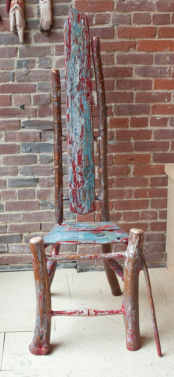 Items similar to Salvaged and Driftwood Chair on Etsy
