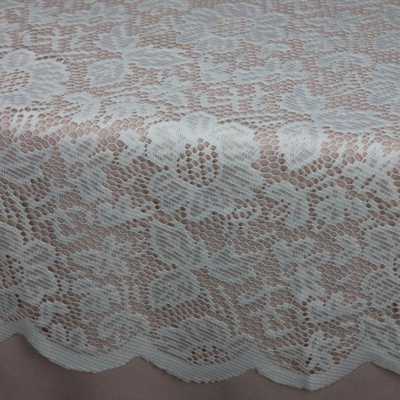 Ivory Round Lace Tablecloths, 60 Inch Lace Table Overlays | Lace Table  Toppers