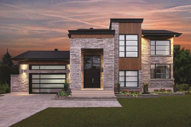 maison zen et contemporaine - Google Search | House exterior, Building design, Architecture plan
