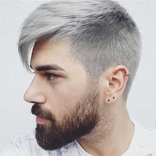 Coole frisuren graue haare manner