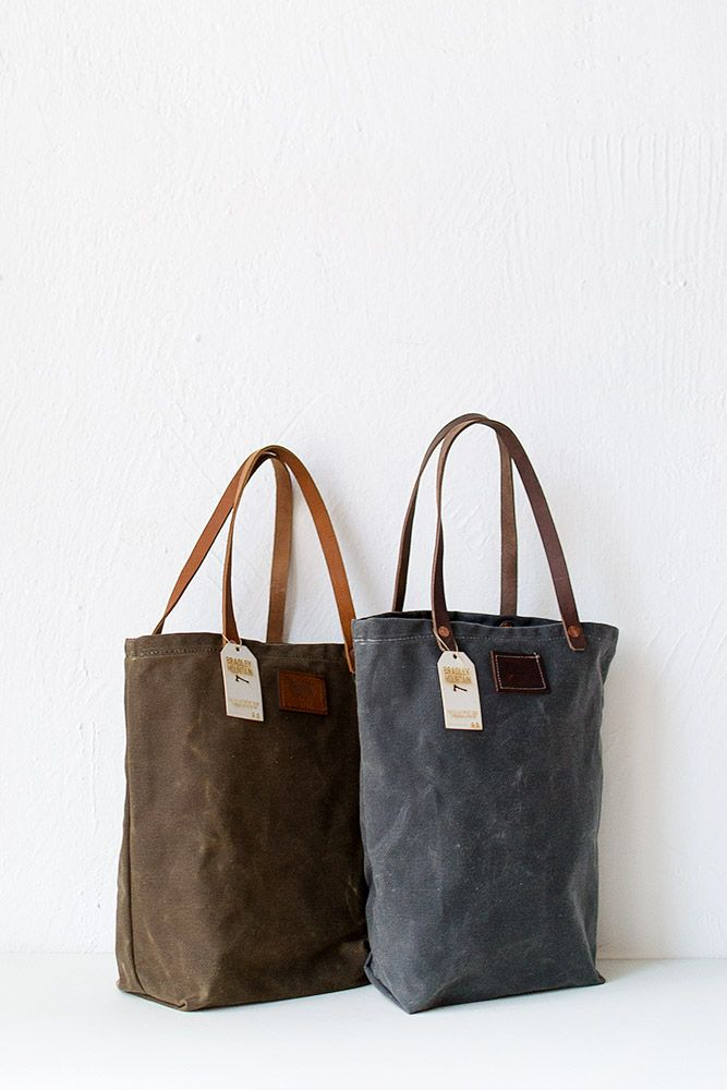 251b8eebe495 Bradley Mountain Waxed Canvas Tote Bag Charcoal   Leather Works ...