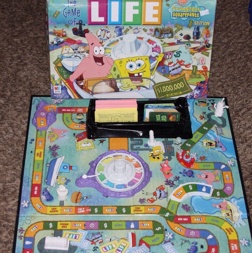 Spongebob Squarepants Edition Game of Life 2002 Hasbro