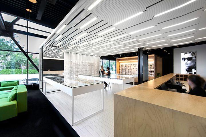 laire visuelle optics by la shed qubec canada retail design blog - Interior Design Blogs Canada