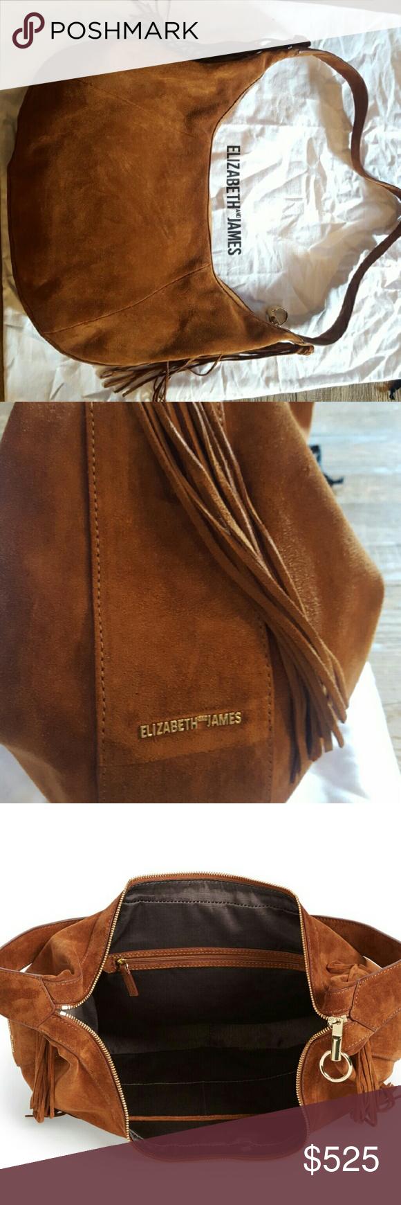 handbag suede hobo bag Elizabeth and James Bags Hobos
