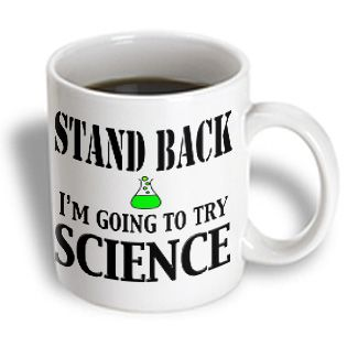 3drose Evadane Funny Quotes Stand Back Ia M Going To Try Science Chemistry Teacher Biology Physics 11 Oz Mug White Mugs
