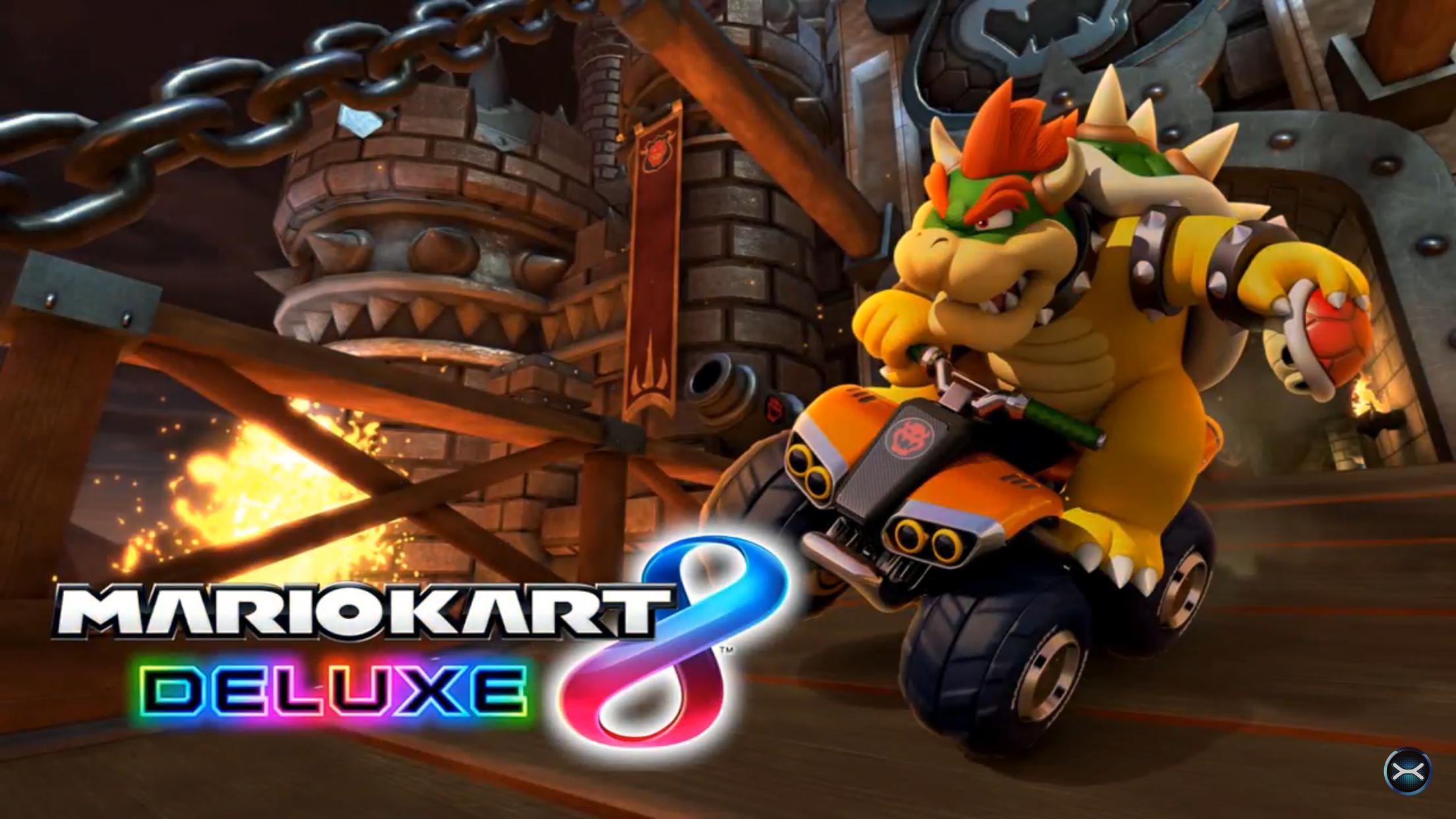 Bowser Mario Kart 8 Deluxe Title Screen Mario Kart Mario Kart 8 Mario