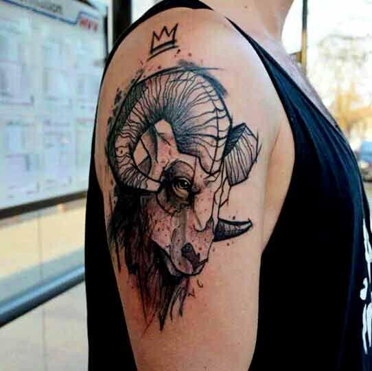 50 Besten Widder Tattoos Designs Und Ideen Mit Bedeutungen Widder