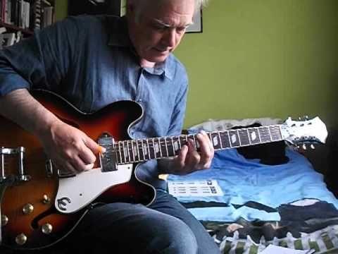 Sleep Walk - Santo & Johnny (Guitar tutorial)   theo back yard ...