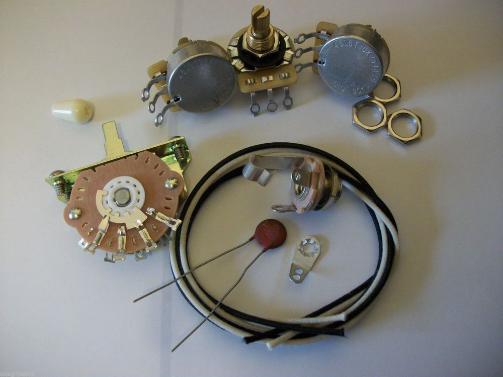 Wiring Harness Kit For Strat Cts Oak Switchcraft 05uf Erie Ceramic Cap 1960 S Axegrinderztoneproducts With Images Ceramics