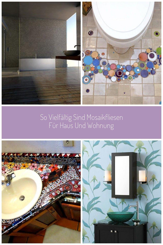Badezimmer Fliesen Mosaik Bunt