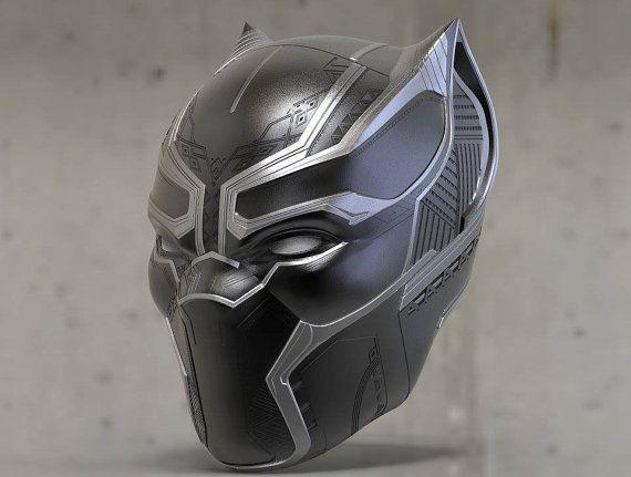 Fabuloso 3D File - Black Panther 2018 Mask Helmet Printing Model   Black  HP58