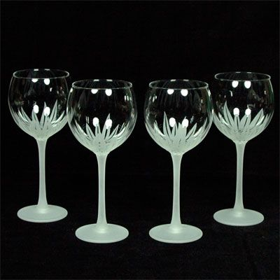 Reall cool hand-etched wine glasses!