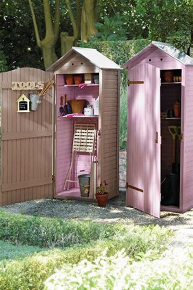 Garden cabinet from Next Home. We LOVE the pink!
