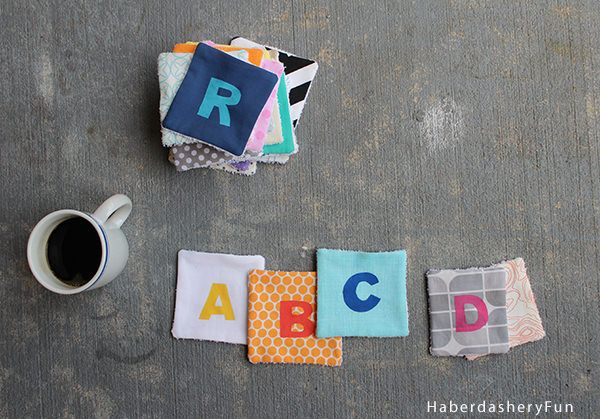 Alphabet Coasters from Haberdashery Fun