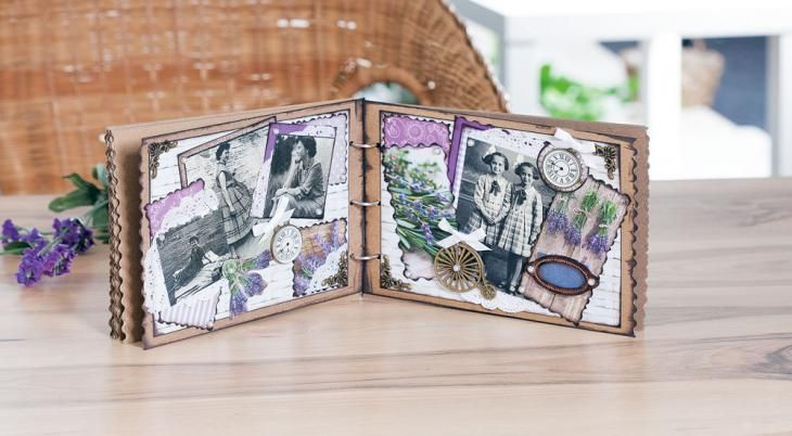 romantisches fotoalbum selber machen mit scrapbooking und. Black Bedroom Furniture Sets. Home Design Ideas