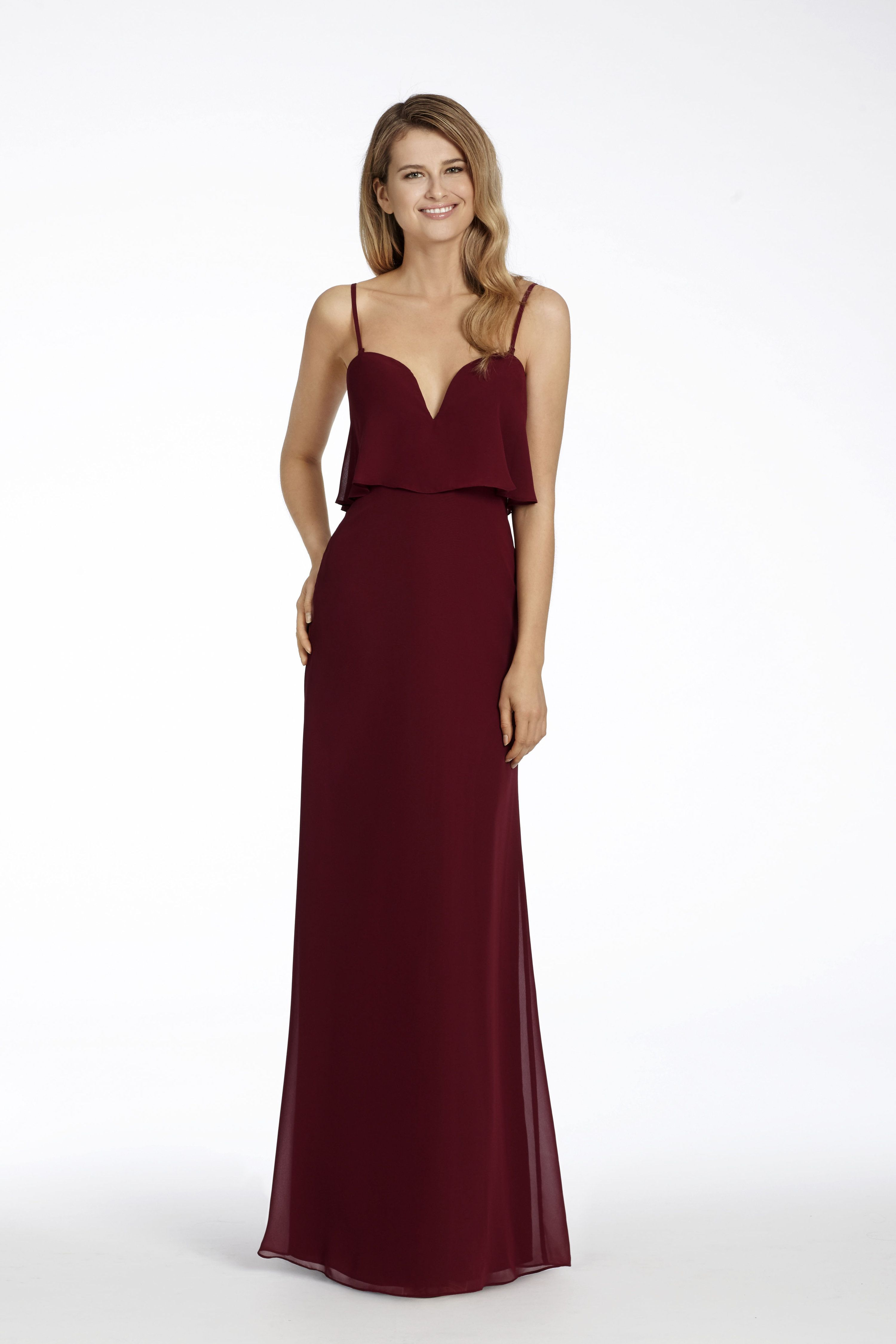 Hayley paige occasions style 5708 burgundy chiffon strapless a hayley paige occasions style 5708 burgundy chiffon strapless a line bridesmaid gown split ombrellifo Choice Image