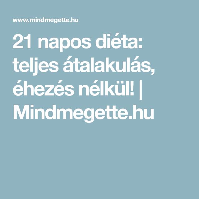 21 napos diéta femina