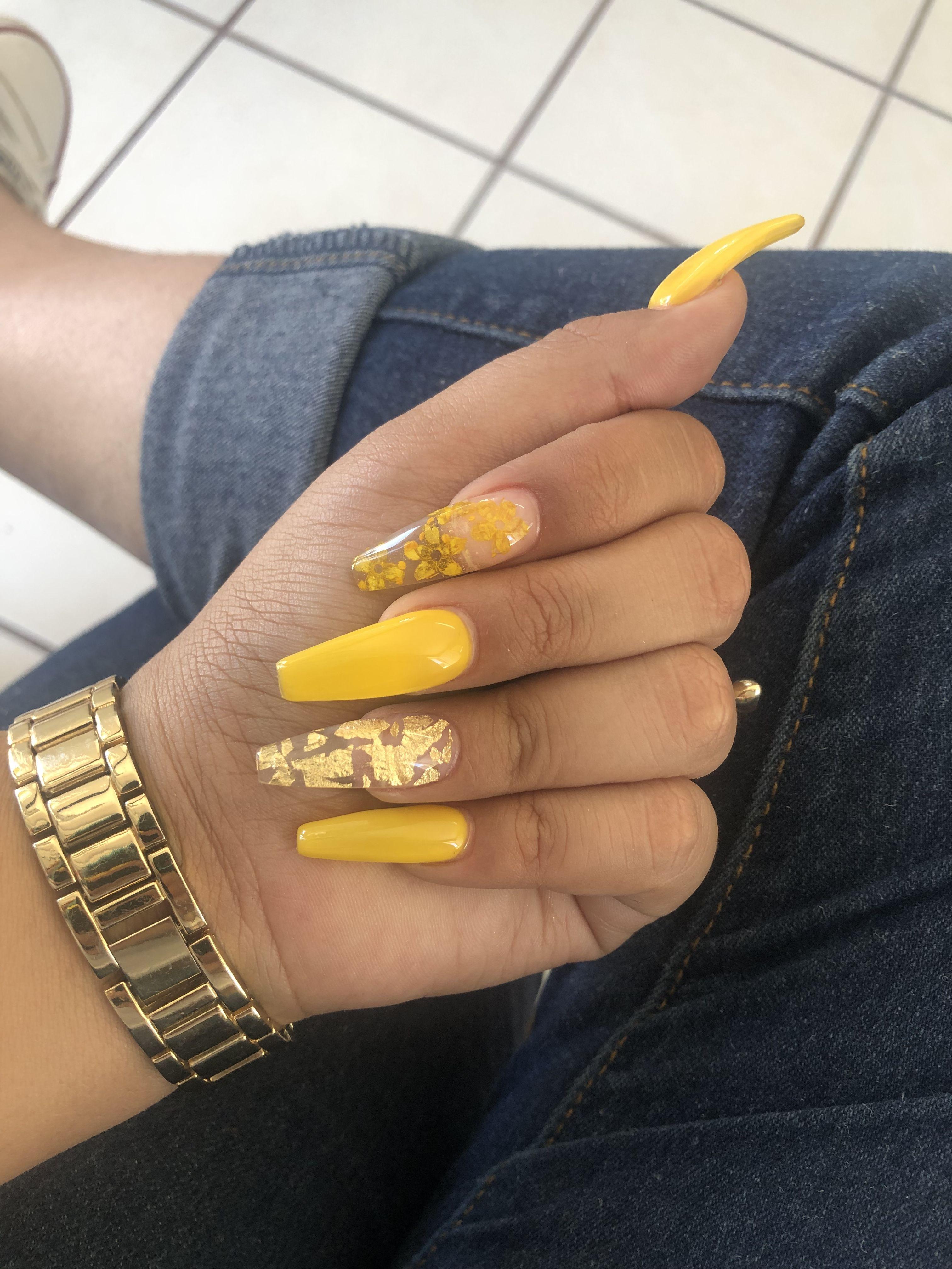 Yellow Nails Yellow Nails Nails Summer Nails