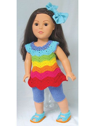 Paid And Free Crochet Patterns For 18 Inch Dolls Like The American