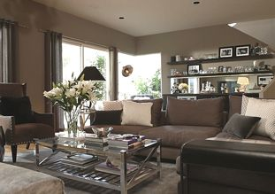 Living Spaces Broaden Your Horizons Styled By Jeff Lewis Sectionals Coffeetable Staged4success