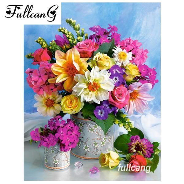 5D Diamond Painting Bright Flower Bouquet Kit   Diamond ...