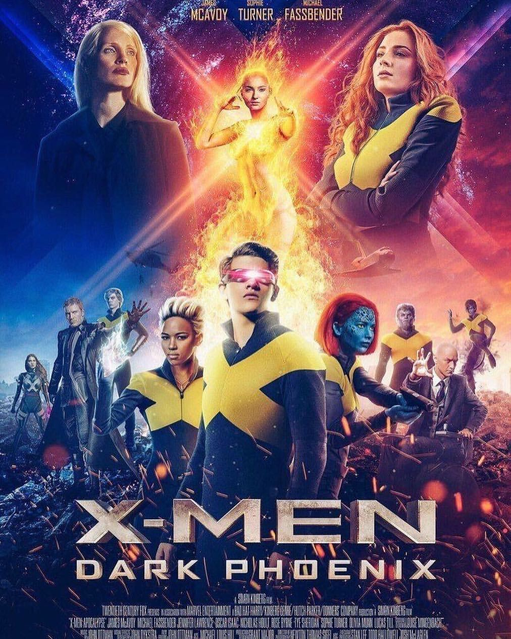 A New Poster For Dark Phoenix Has Surfaced Online Are You Ready To See What May Be The Final Film In The X Men Marvel Movie Posters Dark Phoenix Xmen Movie