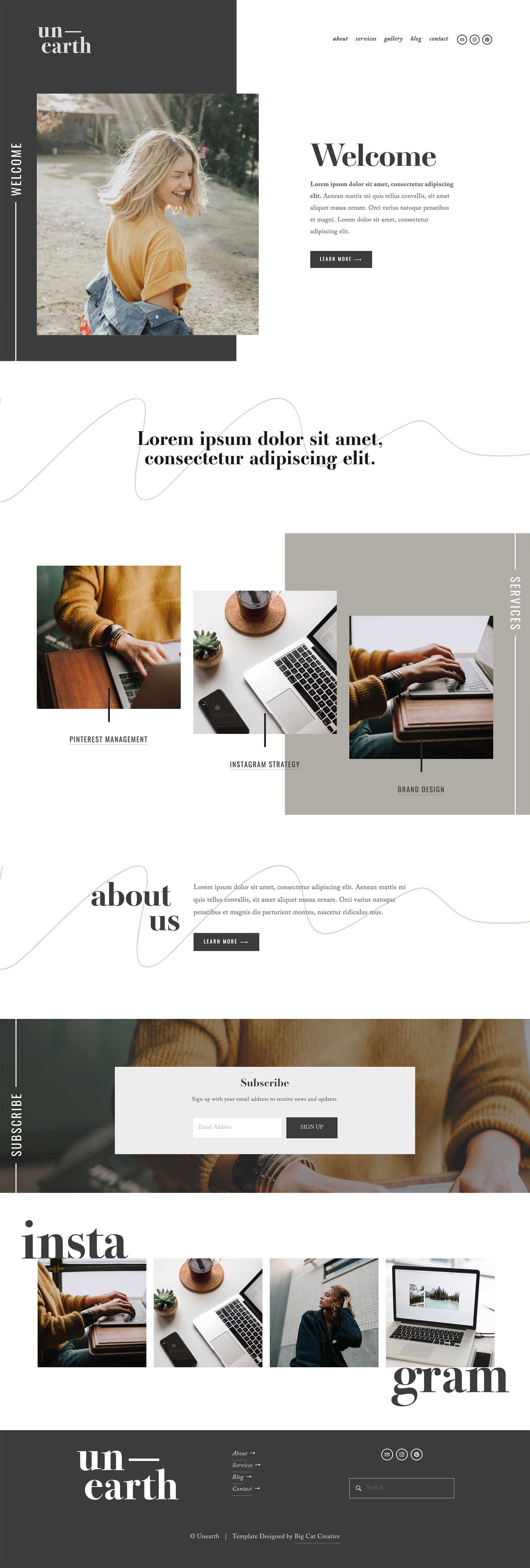 Squarespace Template Unearth In 2020 Web Design Quotes Web Design Tips Squarespace Design