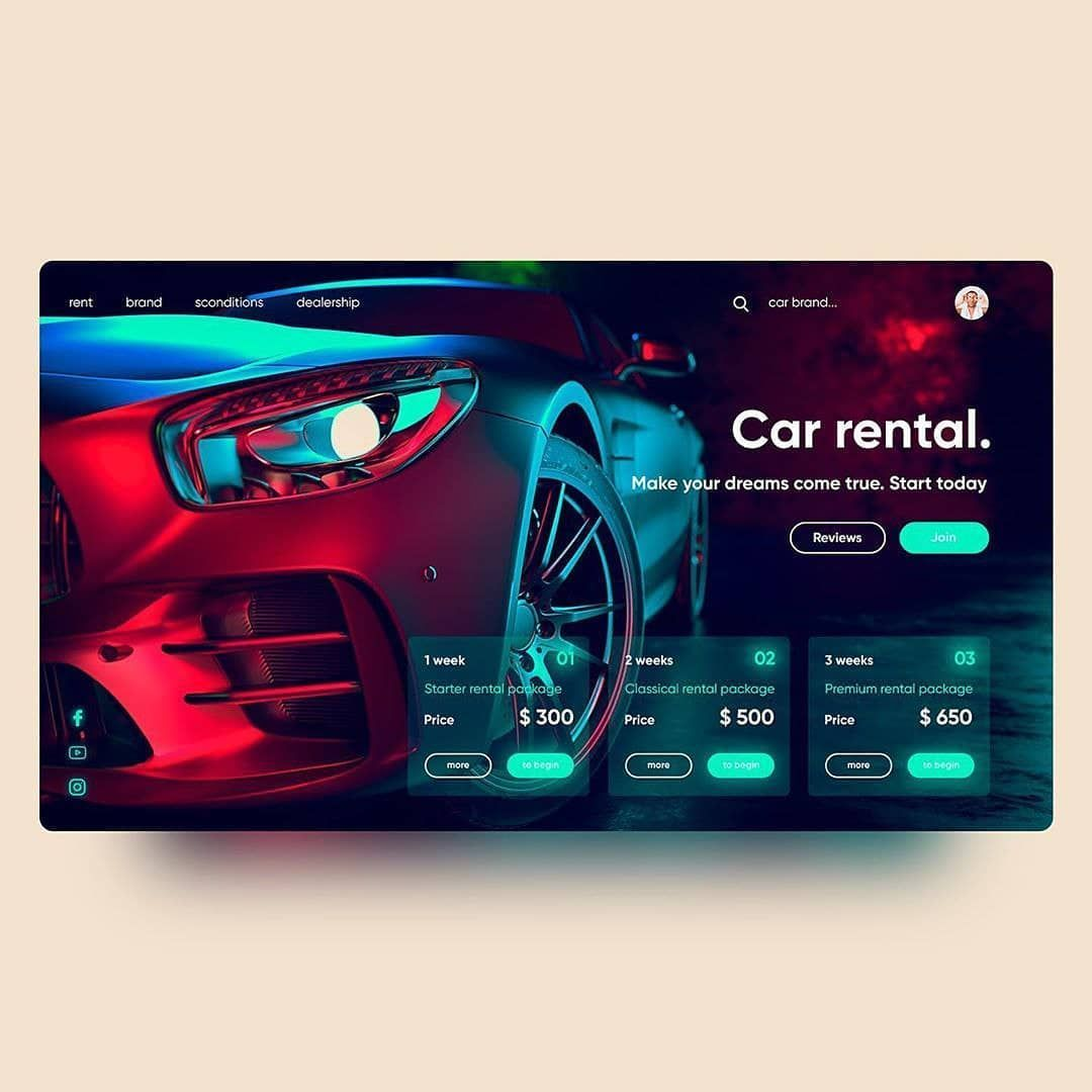 Pin on car web design