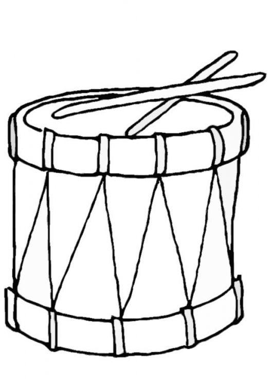 Resultado De Imagen Para Dibujo Divertido De Un Tambor Drums For Kids Christmas Pictures To Color Christmas Coloring Pages
