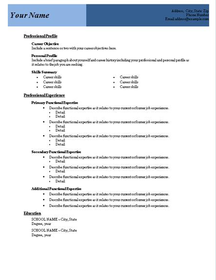 Functional Resume Template Microsoft Word Functional Resume Template Resumes A Resume Template Word Downloadable Resume Template Functional Resume Template