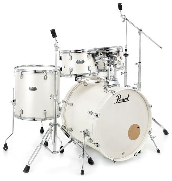 Pearl Decade Maple Series Drum Kit In White Sat Pearl Andertons
