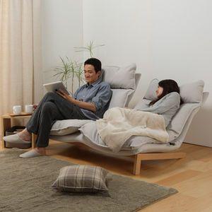あのソファより人間をダメにする無印のリクライニングソファ 日本のインテリアデザイン ミニマリストリビングルーム 無印 ソファ