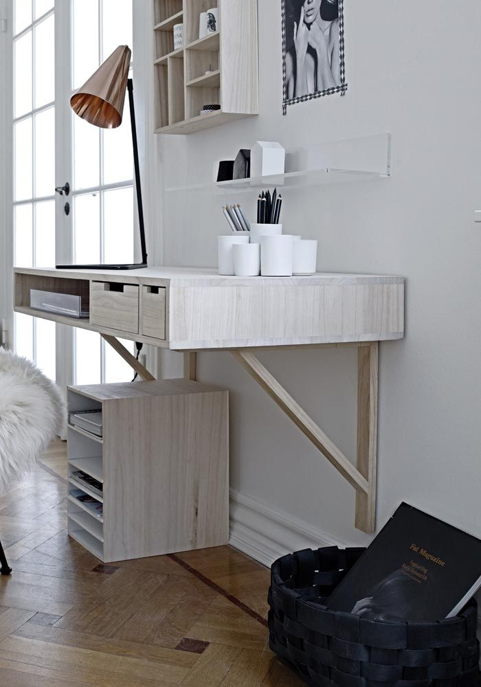 5 Of The Best Wall Mounted Desks To Maximise Space At Home Bodie And Fou Small Room Design Wall Mounted Desk Home Office Design