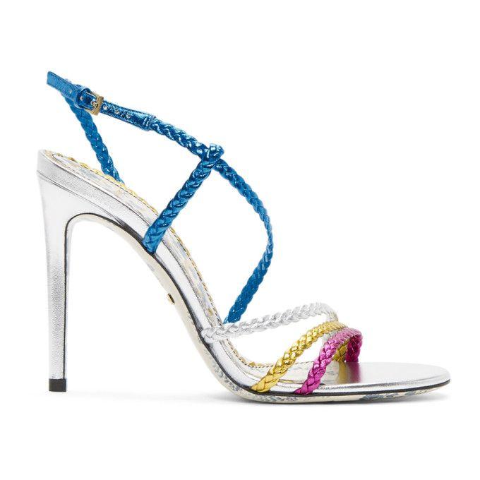 Sandales Tressées Gucci - Bleu ZImFbUgqyh