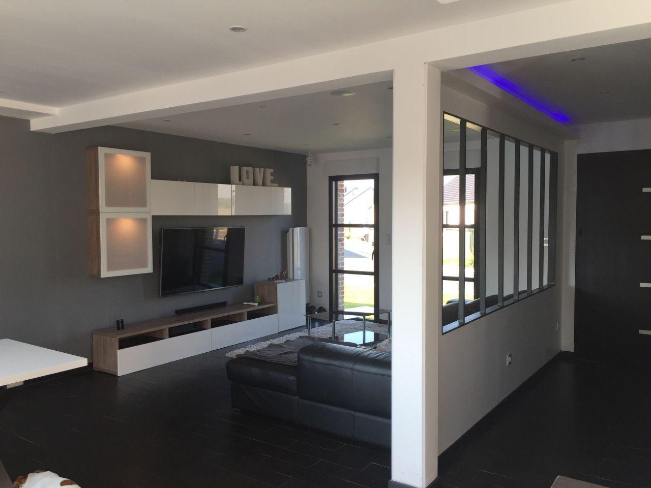 changement du meuble tv construction de notre premi re maison beuvry les b thune par. Black Bedroom Furniture Sets. Home Design Ideas