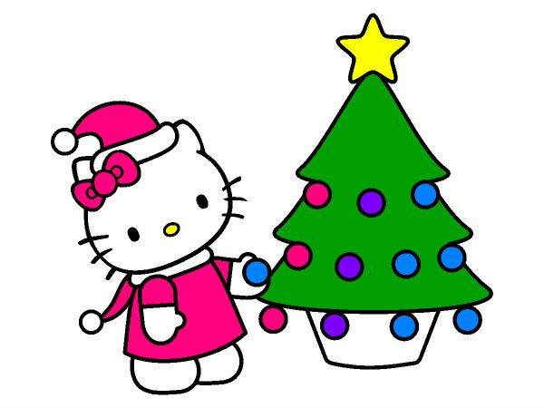 Hello Kitty Christmas Coloring Page Hello Kitty Christmas Hello Kitty Colouring Pages Christmas Coloring Pages