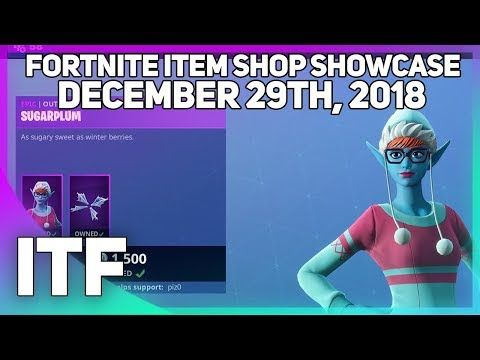 Fortnite Videos Fortnite Item Shop New Sugarplum Skin December