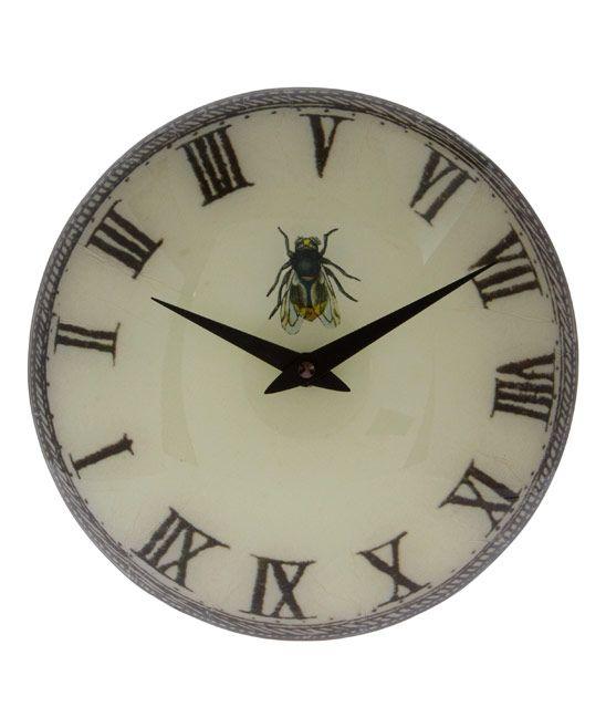 John Derian Fly Round Glass Clock