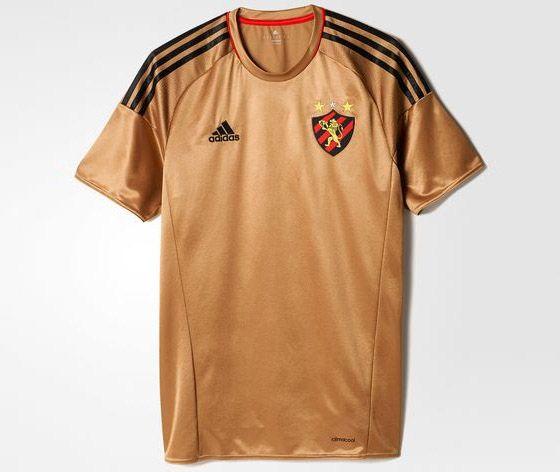 Terceira camisa dourada do Sport Recife 2016-2017 Adidas  d06690f5259cc