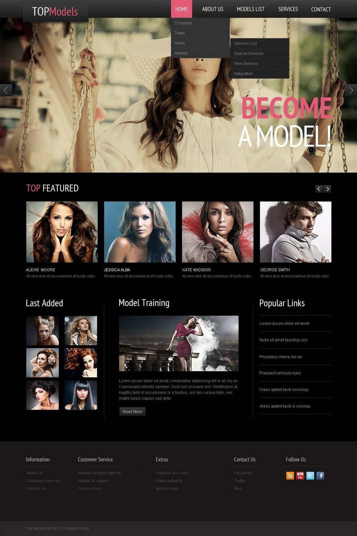 15+ Model Agency Website Templates