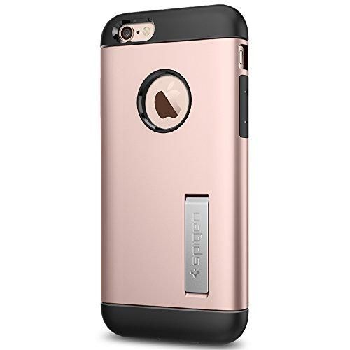 faeba80b3f4 Spigen Slim Armor iPhone 6S Case with Kickstand and Air Cushion Technology  Hybrid Drop Protection for iPhone 6S / iPhone 6 - Rose Gold
