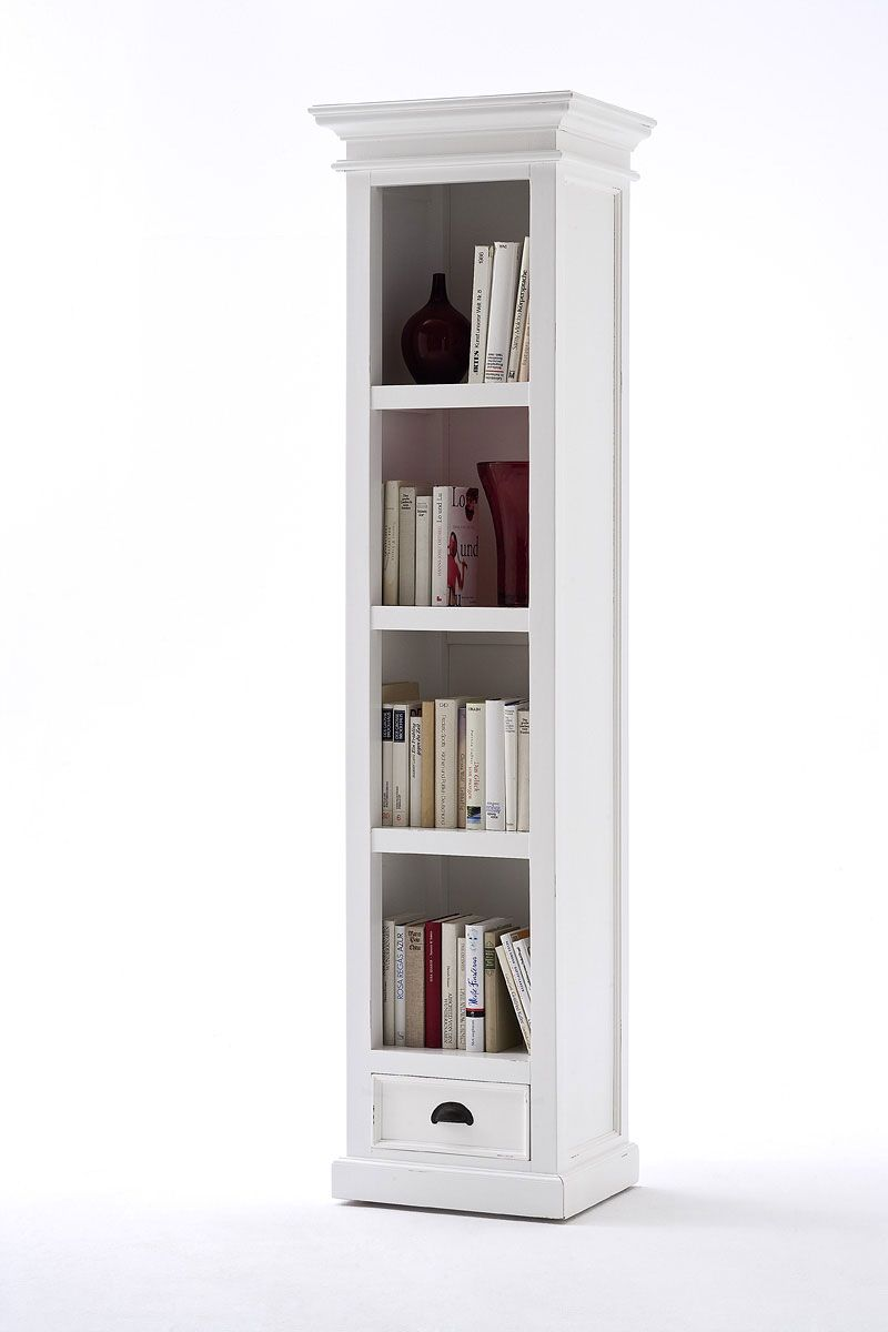Country vintage tall narrow bookcase with drawer   Dream Home ...